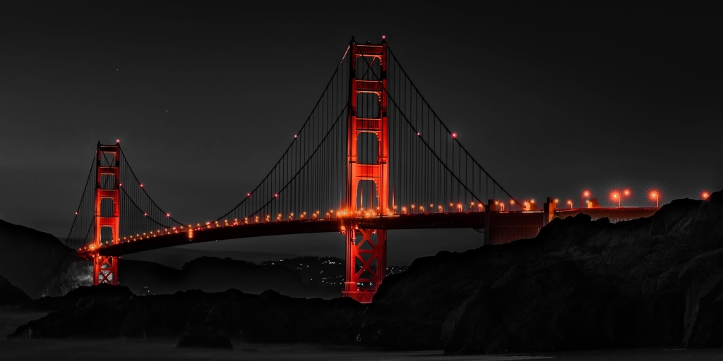 Golden gate bridge, things that are red